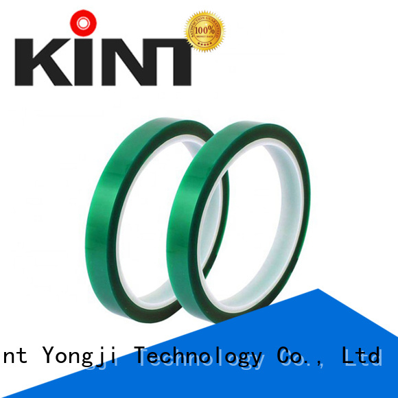 Kint waterproof green polyester tape promotion for industrial plating
